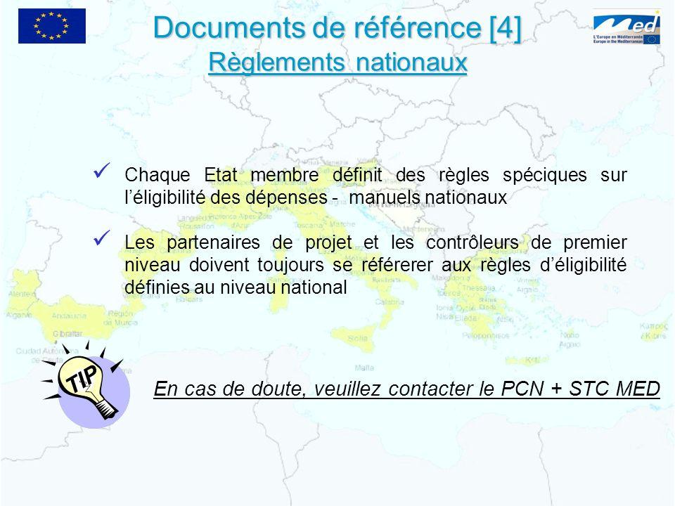 Documents de référence [4] Règlements nationaux